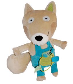 Design produit, pour Oxybul Eveil & Jeux Cliquer, 5 autres produits à découvrir. Collection de jouets d'éveil, déclinée d'après les personnages renard et lapin,  sur le thème de la nature.  Image à la Une, le doudou renard et sa mini souris.