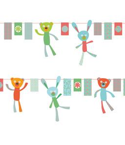 Pour Djeco. Création de guirlande décorative, en papier. Travail sur la conception des guirlandes.