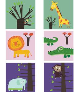 Illustratrice pour Globe Trotoys-Deglingos Cliquer. L'imagier (carton) des animaux et l'imagier (carton) des chiffres à découvrir. A la Une, l'imagier des contraires.