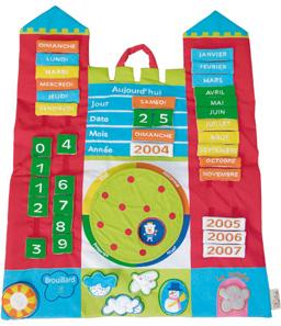 Design produit pour Latitude Enfant Création du tableau du temps, réalisation des dossiers techniques et mise au point du prototype.